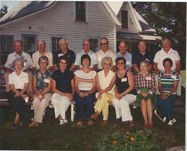 Anderson brothers, and Irene with spouses at Homestead 1981