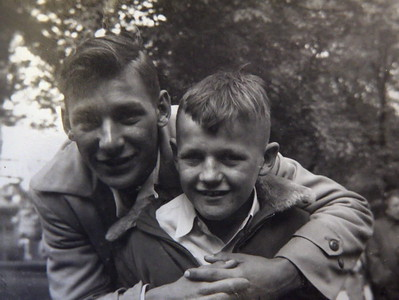 Chad and Tom Werts 1950.
