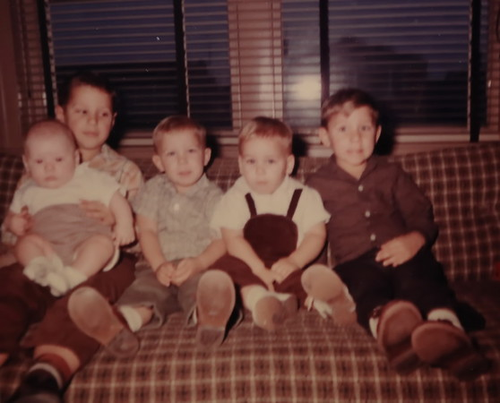 Bob Werts, Dave, Pat, Terry and Tim. 1961