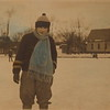 "Catherine ""Caddy"" Werts skating Foster Park, Evanston, IL Jan 1925."
