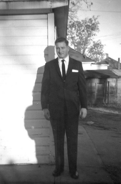 James Leroy Morgan,the day of mom and dads wedding.