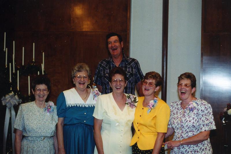 Jessie, Wilma, Carol, Beverly, Betty, Jerry. 1997