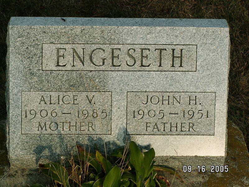Aunt Alice Engeseth @ Mt. Horeb Wisconsin Cemetery