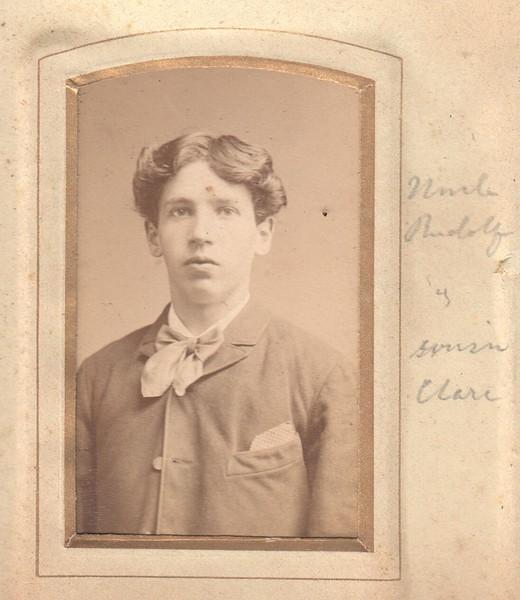 Rudolf Mueller as a young man