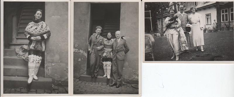 Zosia/Tosia Gulinska, three snapshots, 1929