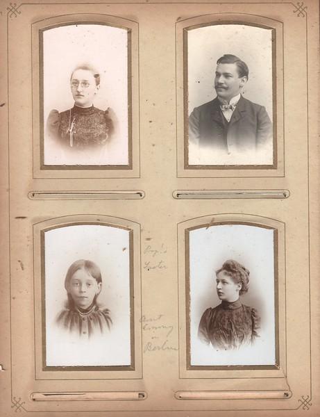 Album page, various Mueller family members