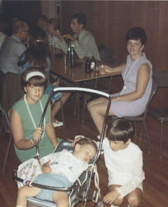Wedding in Midland, ON - 1971 - Mom, Me, Carol and Michael (in stroller asleep)