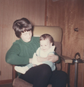 Me holding Michael - age 8 mths?