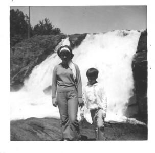 Carol and I at High Falls.  Family outing.