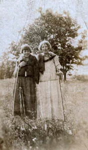 "Elsie and Ella- ""The two Anderson girls taken in Battle Creek, Mich. on the 4th of July"""