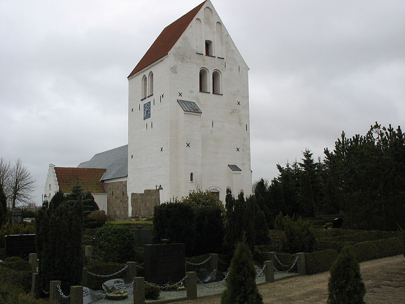 Jetsmark Kirke, Jutland, Denmark. This is the area that Nels John and Inger (Petersdatter) Anderson came from.