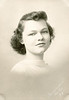 Rita Nolin, high school graduation portrait, 1938