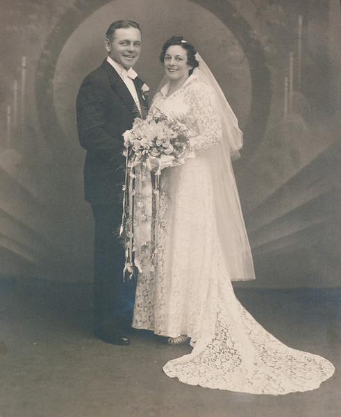 Homer Nolin and Mae Bushey Wedding, in Willimansett, Massachusetts, on June 15, 1938