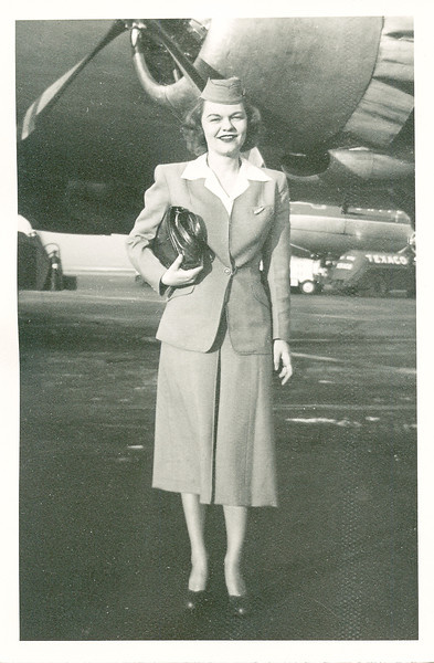 Rita Nolin, stewardess for United Airlines, Chicago, Illinois, about 1943