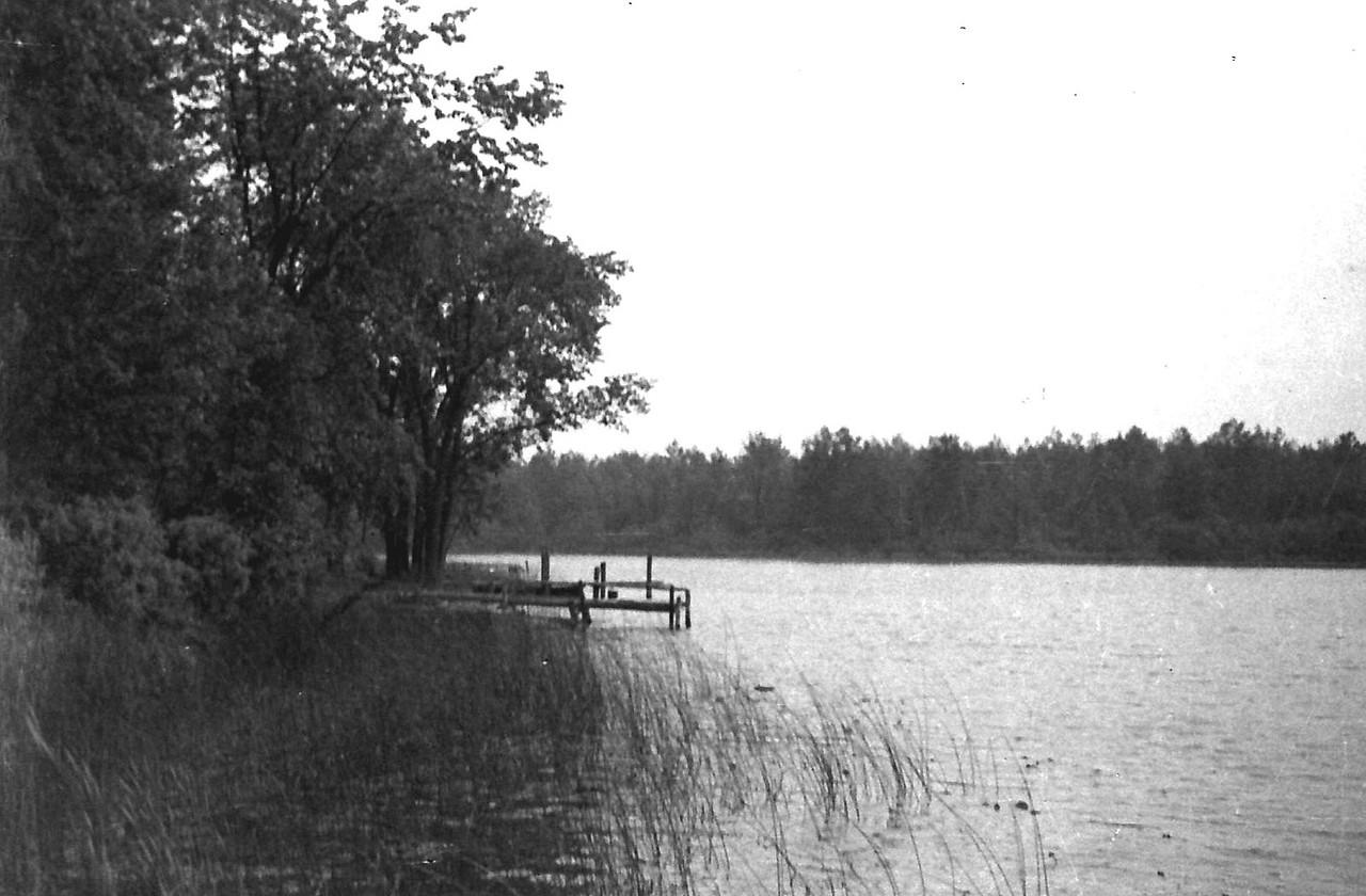 Tea Lake, Oscoda County. Fishing/Camping trip. ca. 1946