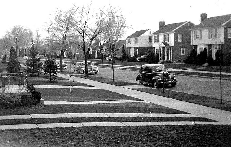 Littlefield from front porch. ca 1951