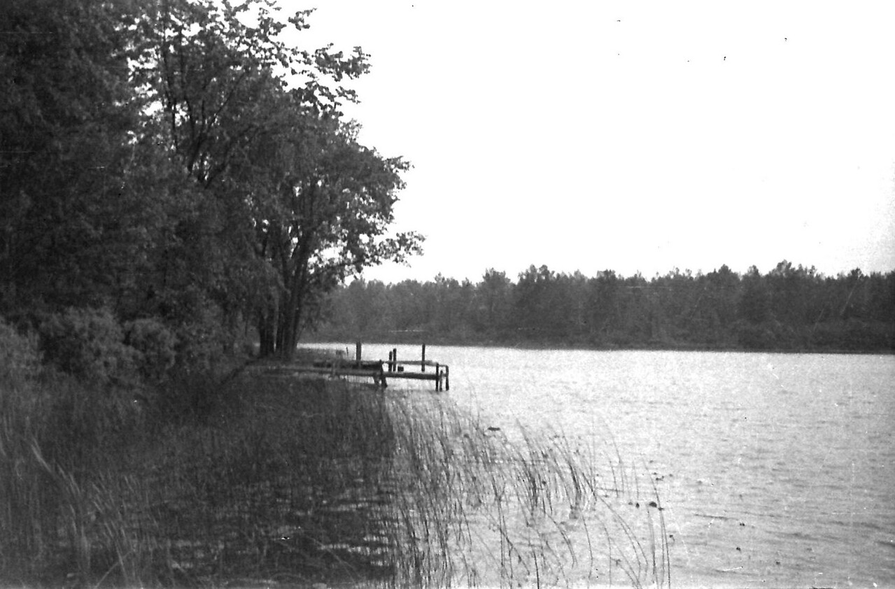 Tea Lake, Oscoda County. Fishing/Camping trip. ca. 1946