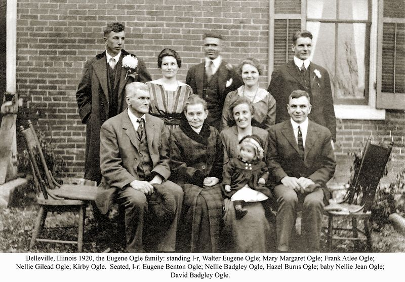 Eugene and Nellie Ogle with their immediate family about 1920.
