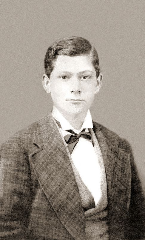 Albert Badgley Ogle at age 14 - in 1875.