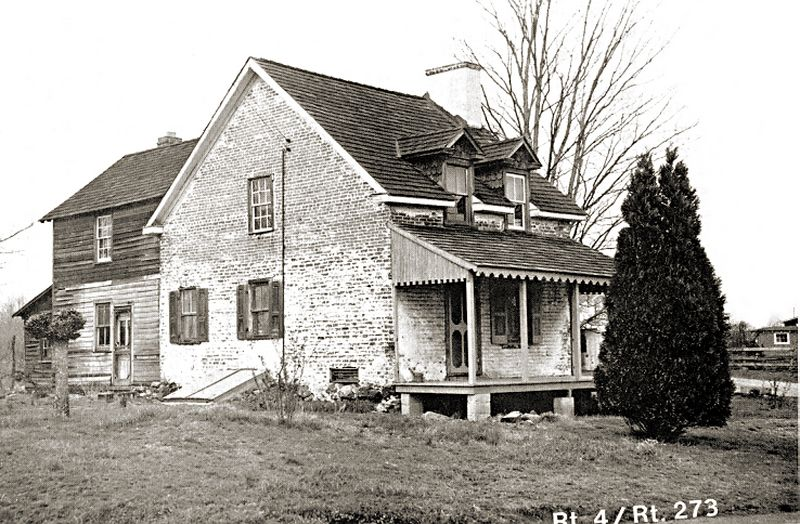 Thomas Ogle House at Christiana, Delaware. Photo courtesy of the Delaware Highway Department, 1955. The house is gone, and the area is now the headquarters of MBNA.