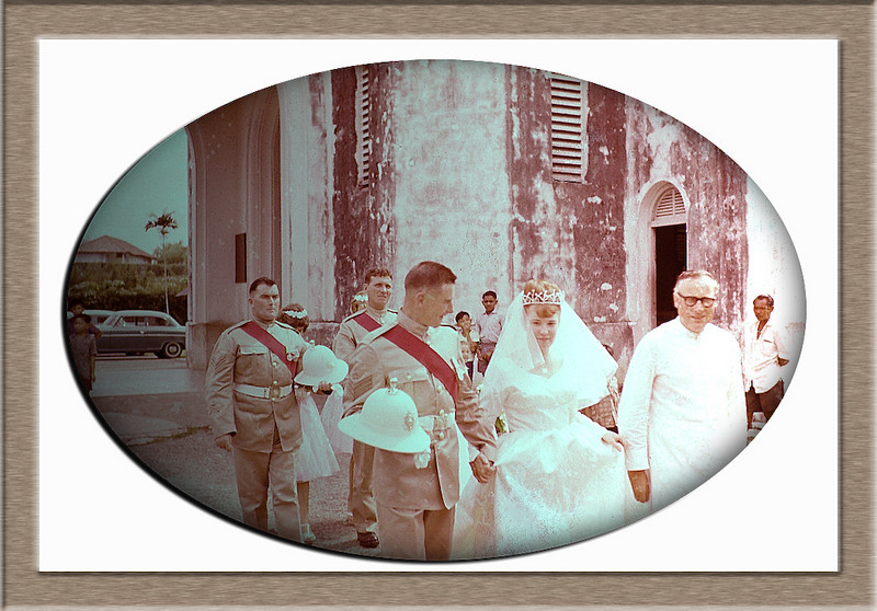 This was a wedding in malaysia I was a bridesmaid but I cannot remember this couples name 1959