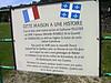 LA CRISTERIE - BRESOLETTES - FRANCE - ÉCRITEAU devant la maison où est né Guillaume Pelletier