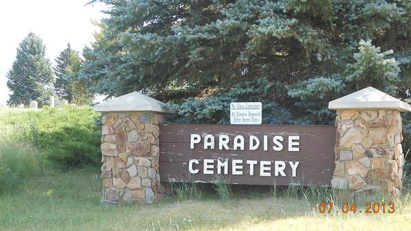 Paradise UT cemetery photos Wm Nash Thomas family 7/4/13