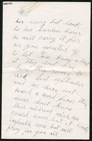 """Page 3; 1935 letter from B L Hyde to Roxie Pears Gean. References to illness of George Pears. This letter is rcvd in Water Valley MS on the date of George's death, Feb 21, 1935.  Funeral home notice is at  <a href=""""http://gean.smugmug.com/gallery/870063"""">http://gean.smugmug.com/gallery/870063</a><br /> <br /> Near as I can figure it out, Ella Gafford Hyde was the wife of Benjamin Leander Hyde, a cousin of Evelina Elizabeth Hyde, <br /> (Mrs. George Pears) who is the mother of Roxie Ann Pears Gean. <br /> Evelina's father was James Benjamin Nolen Hyde, the brother of William Benjamin Hyde, <br /> who is the father of Benjamin Leander Hyde. <br /> William Hyde was the father of James Benjamin Nolen Hyde, and William Benjamin Hyde. <br /> James Benjamin Nolen Hyde named Evelina's brother William just to make us descendants scratch out heads. arrrgh.<br /> Curses on Dr. Jekyll."""