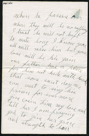 """Page 2; 1935 letter from B L Hyde to Roxie Pears Gean. References to illness of George Pears. This letter is rcvd in Water Valley MS on the date of George's death, Feb 21, 1935.  Funeral home notice is at  <a href=""""http://gean.smugmug.com/gallery/870063"""">http://gean.smugmug.com/gallery/870063</a><br /> <br /> Near as I can figure it out, Ella Gafford Hyde was the wife of Benjamin Leander Hyde, a cousin of Evelina Elizabeth Hyde, <br /> (Mrs. George Pears) who is the mother of Roxie Ann Pears Gean. <br /> Evelina's father was James Benjamin Nolen Hyde, the brother of William Benjamin Hyde, <br /> who is the father of Benjamin Leander Hyde. <br /> William Hyde was the father of James Benjamin Nolen Hyde, and William Benjamin Hyde. <br /> James Benjamin Nolen Hyde named Evelina's brother William just to make us descendants scratch out heads. arrrgh.<br /> Curses on Dr. Jekyll."""