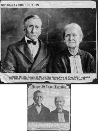 Two abused newspaper clippings that featured the photo above<br /> January 1931<br /> North Mississippi Herald