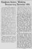 George and Evelina Pears<br /> Golden Wedding Article<br /> <br /> Note the error (?) in the headline.<br /> <br /> North Mississippi Herald<br /> January (?) 1931<br /> <br /> Reformatted for display<br /> (2 columns, rather than original<br /> printed single column article)