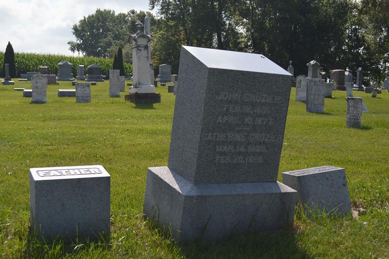 South Elkhorn Cemetery near Milledgeville, Carroll County, Illinois<br /> JOHN CROZIER FEB. 12, 1801. APRIL 10, 1877. CATHERINE CROZIER MAR. 14, 1800. FEB. 20, 1890.