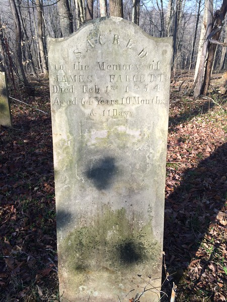 Faucett Family Cemetery, West Baden Springs, Indiana, March 2016
