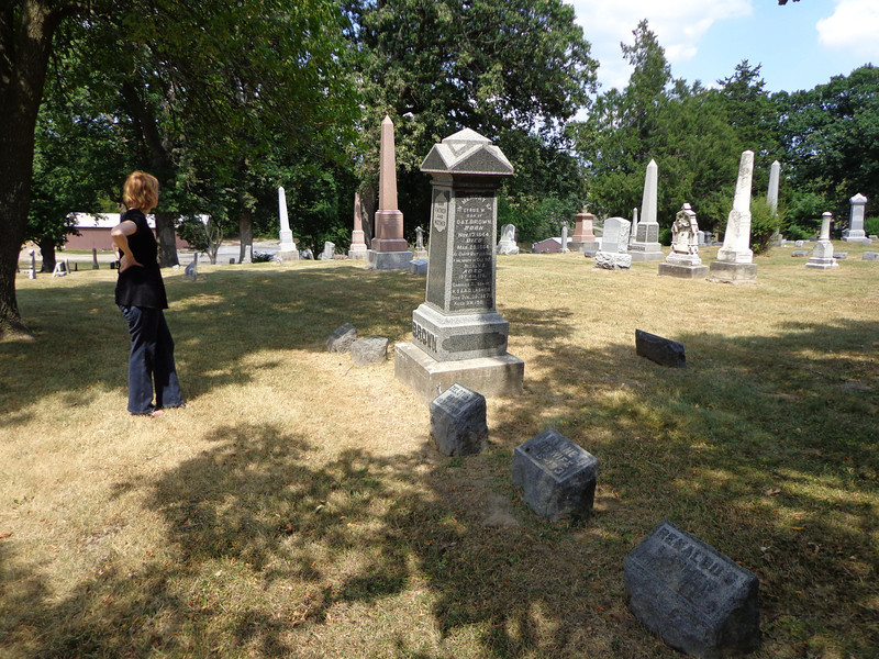 July, 2012 at Grove Hill Cemetery, Morrison, Whiteside, Illinois.  Anne Yard Phillps.