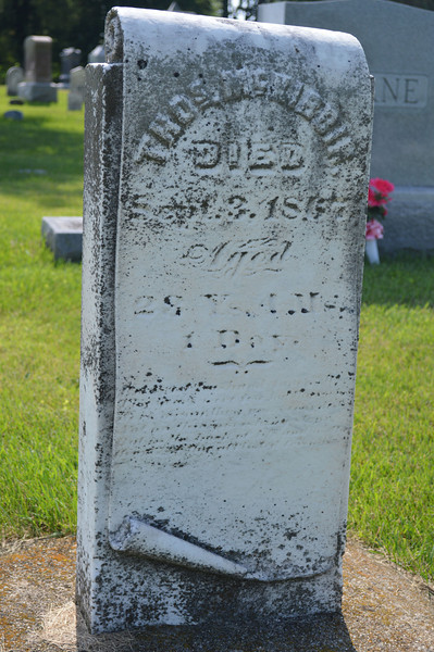 South Elkhorn Cemetery near Milledgeville, Carroll County, Illinois<br /> THOS. McKIBBIN Died SEPT. 3, 1867 Aged 28 Ys, 4 Ms, 1 Day.
