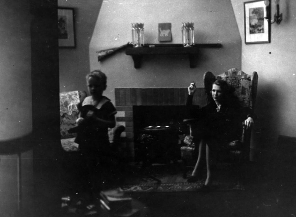 March 14, 1937.  L.E. Phillips III, Anne Katherine Phillips, at home 4300 Block E. Douglas, Wichita Kansas.  (All written on back.)