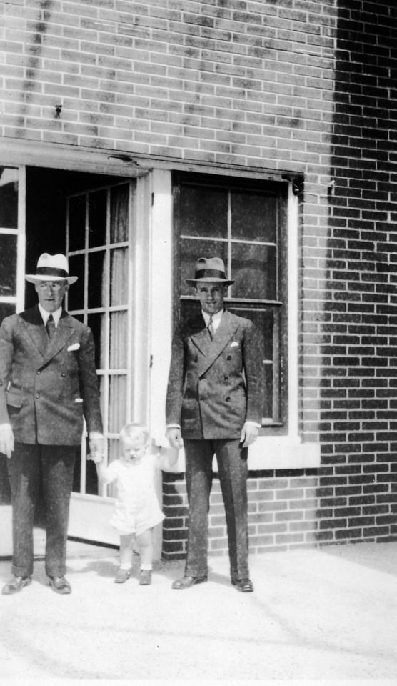 July, 1933 (written on back).  Lee Phillips Sr. and Lee Phillips Jr.
