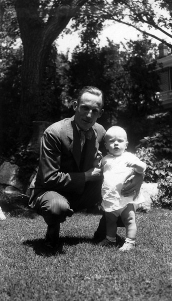 1932.  Uncle Phil (Phil Phillips) with Lee Phillips III.