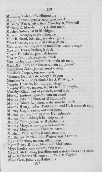 1836 Buffalo City Directory.  No Grants, Inneses or Murrays from our family appeared.
