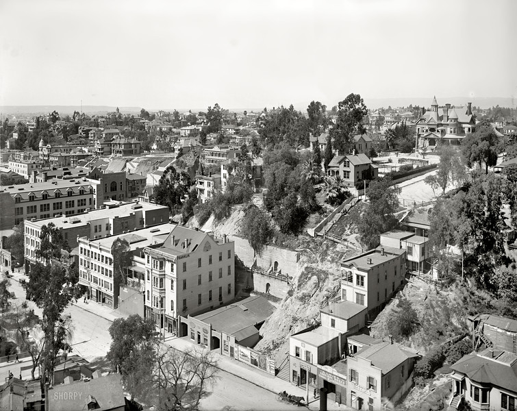 Bunker Hill, Los Angeles, 1899.  From Shorpy.