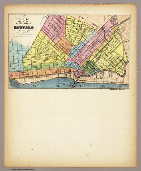 Buffalo map 1855