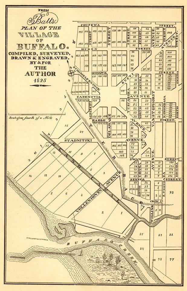 Buffalo map 1825