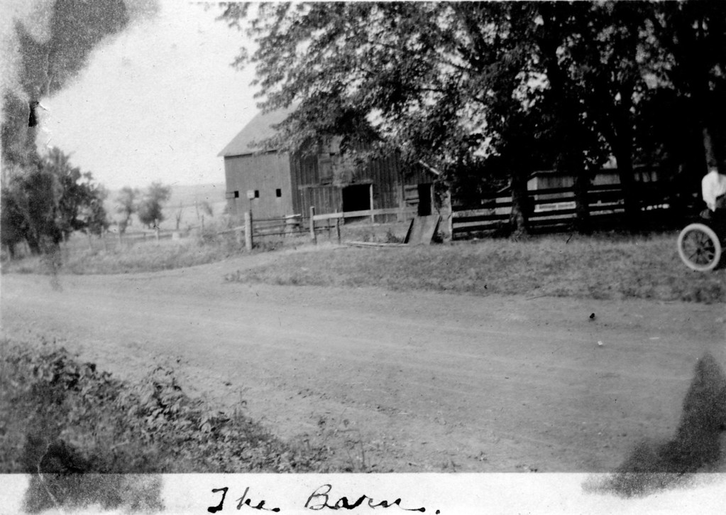 Caption reads:  The Barn.