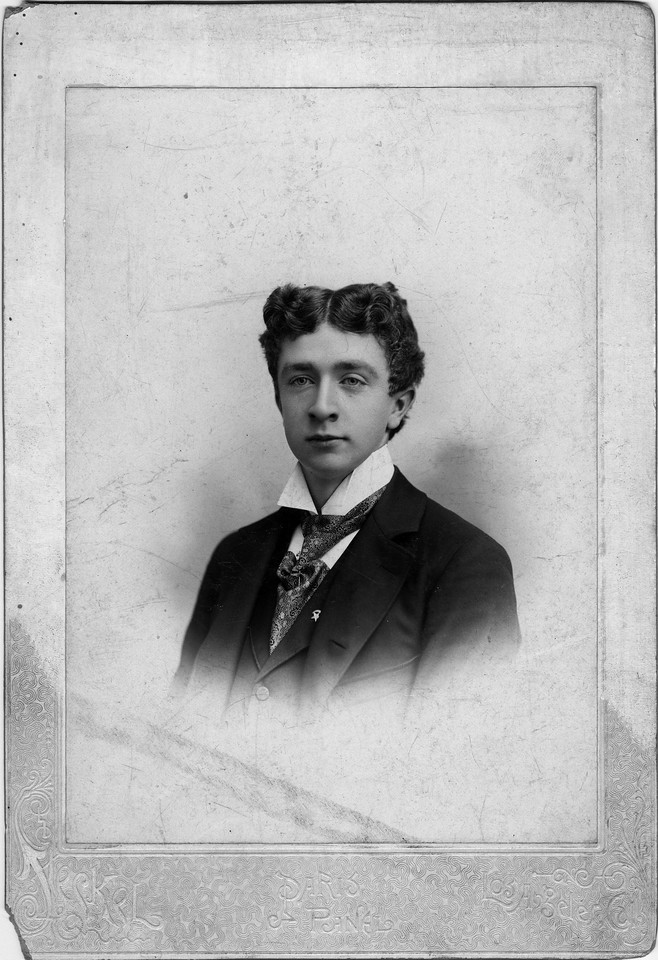 Mid to late 1890s?  William Alexander Innes (1876-1960), brother of Walter Pease Innes.  Photo:  Steckel, 220 S. Spring St., Los Angeles, California.