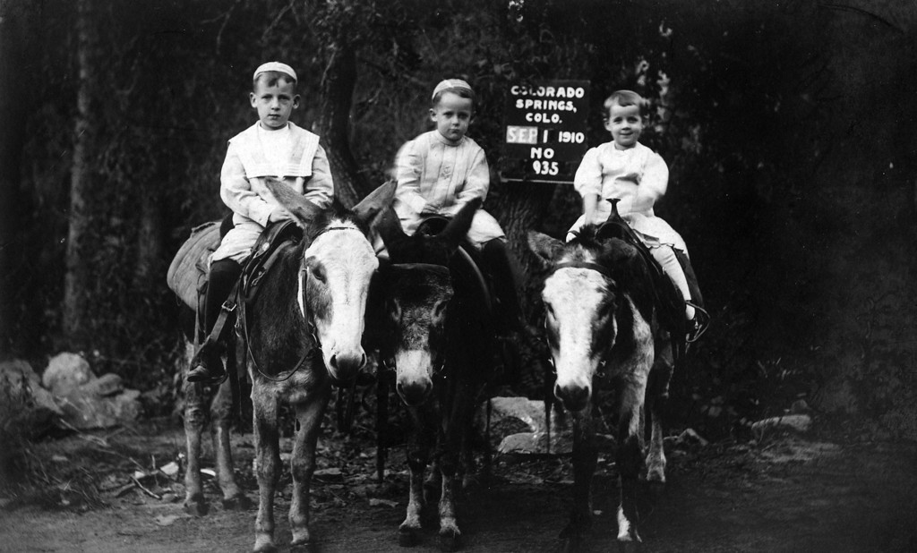 These look like the same three boys from the photo (count three photos back) I identified as possible children of George McKibbin Brown and Helen Pratt.  But the date says 1910, before they were born.  So I guess their identity remains a mystery at this point.