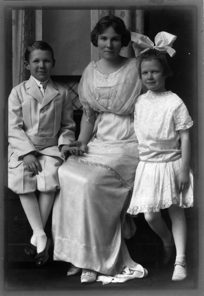 From Left to Right:  Walter Pease Innes Jr. (1902-1977), Margaret May (Brown) Innes (1874-1946), Anne Katherine Innes (Phillips) (1905-1993).