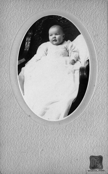 "1903.  Walter Pease Innes Jr. (1902-1977).  Note:  two other versions of this photo have what appears to be ""A.K."" written on the back, so this might be a photo of Anne Katherine Innes."