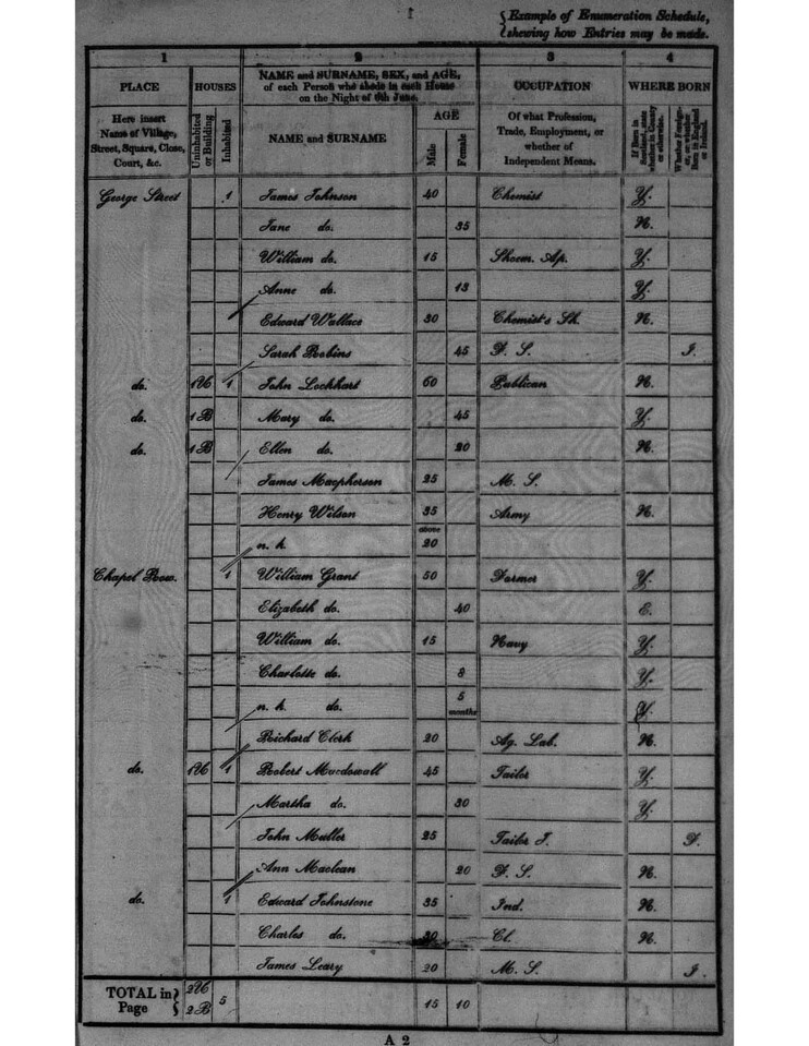 1841 - Census Lairg - Directions page 3