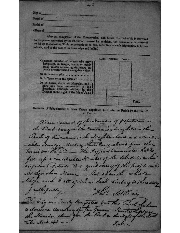 1841 - Census Lairg - Explanation of District page 2