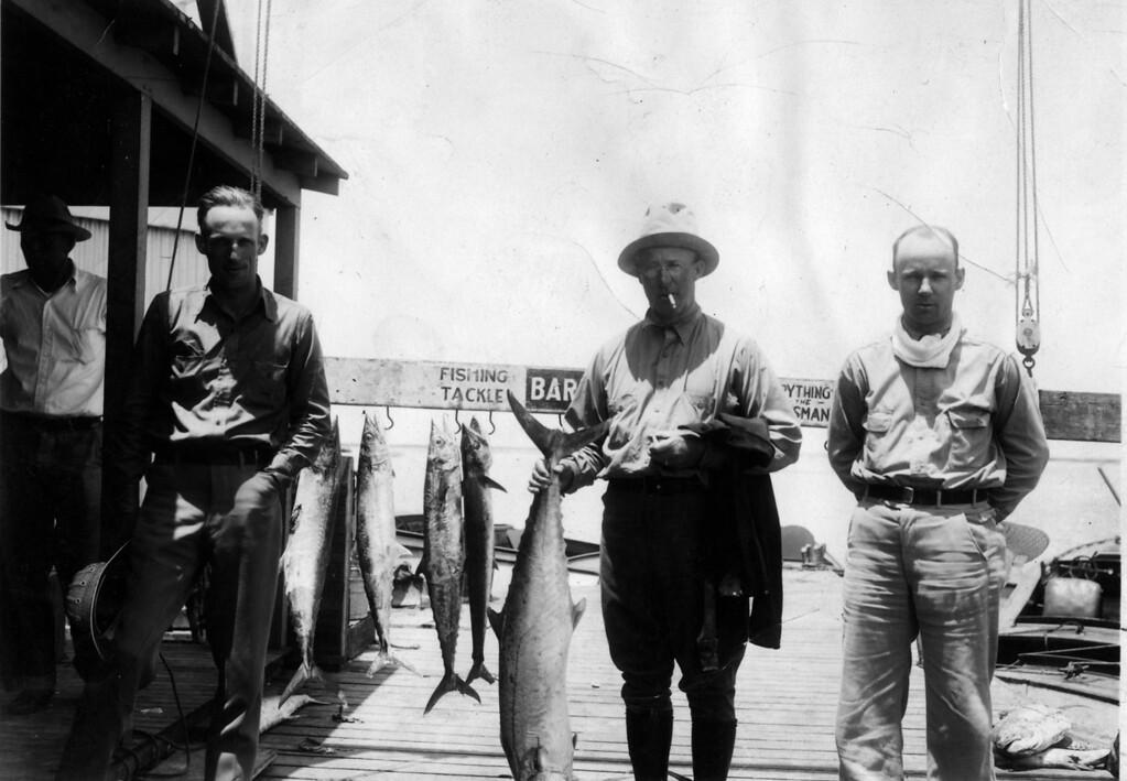 May 22, 1936.  Lee Eldas Phillips and Lee Eldas Phillips Jr.  Aransas Pass (handwritten on back).